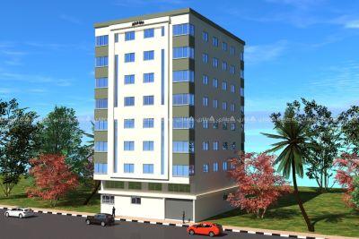 شقة عظم للبيع بعمارة قيد الإنشاء
